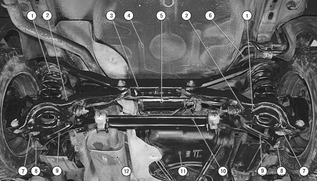 Задняя подвеска ford focus 2